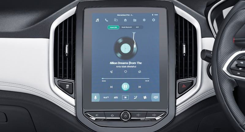 Music Player With Bluetooth & AUX Connection