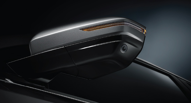 Electric Outer Mirror with LED Turn Signal